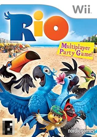 Rio Multiplayer Party Game! Wii Mídia Física Completo Seminovo