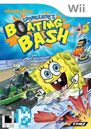 Spongebob's Boating Bash Wii Mídia Física Completo Seminovo