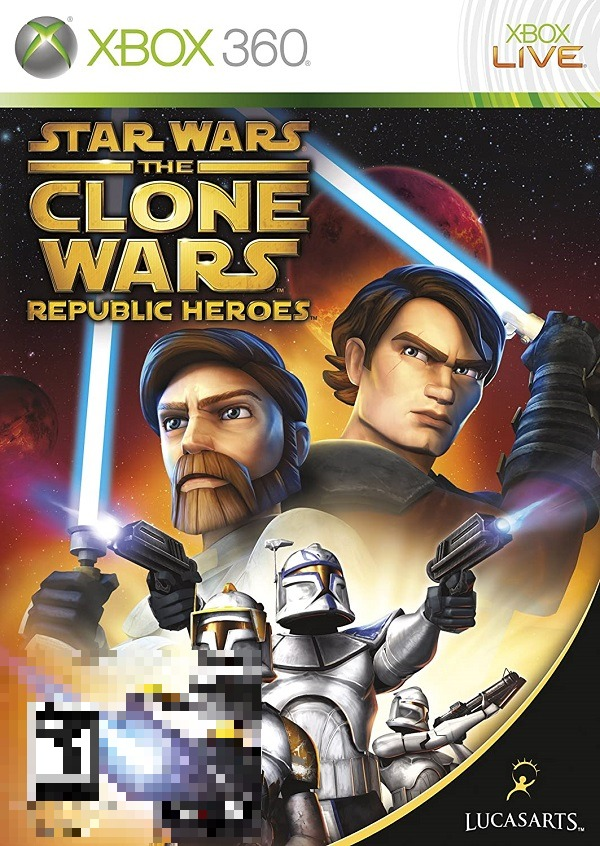 Star Wars The Clone Wars Republic Heroes Xbox 360 Mídia Física Completo Seminovo