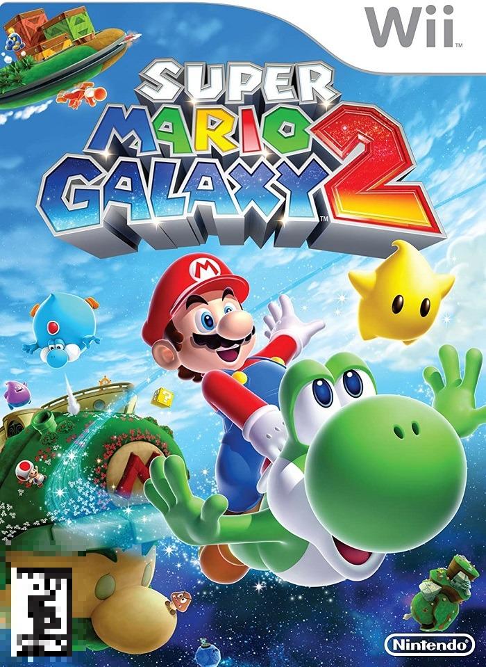 Super Mario Galaxy 2 Wii Mídia Física Completo Seminovo
