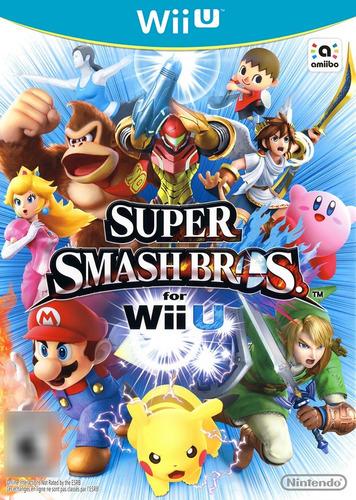 Super Smash Bros for WiiU Mídia Física Completo Seminovo