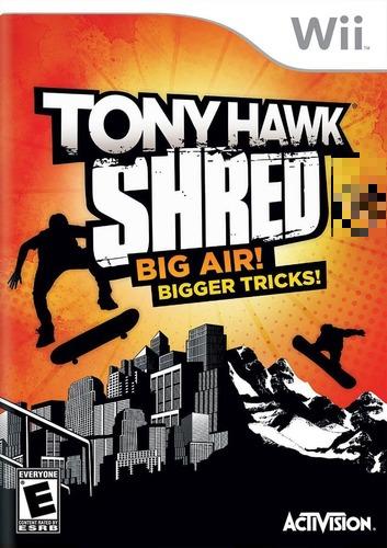 Tony Hawk Shred Big Air! Bigger Tricks! Leia Descrição Wii Mídia Física Seminovo