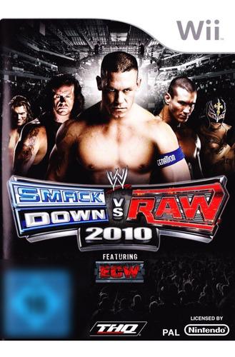 WWE Smackdown vs Raw 2010 Wii Mídia Física Completo Seminovo