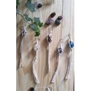 Chaveiro Amuleto com cristal em Macramê - Produto Artesanal