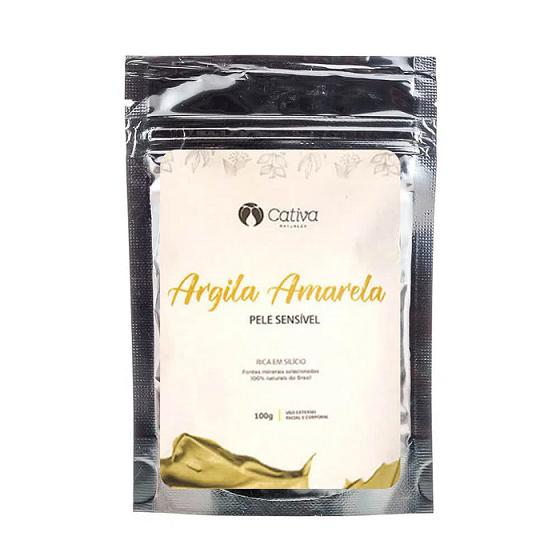 Argila Amarela - 100g - Cativa Natureza