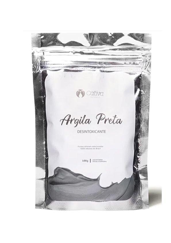 Argila Preta - 100g - Cativa Natureza