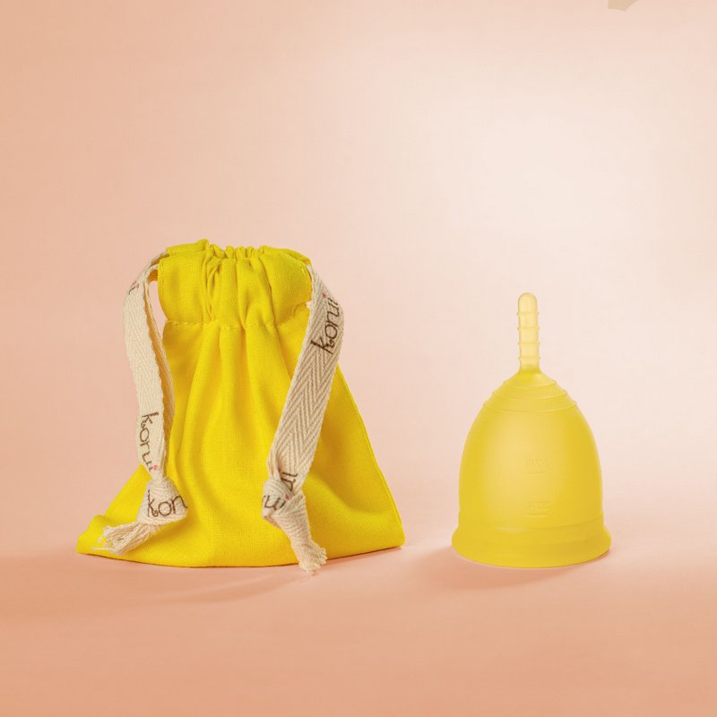 Coletor Menstrual Girassol - Korui - Fluxo Leve, Normal ou Intenso