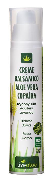 Creme Balsâmico Aloe Vera Copaíba - Facial e Corporal - LiveAloe