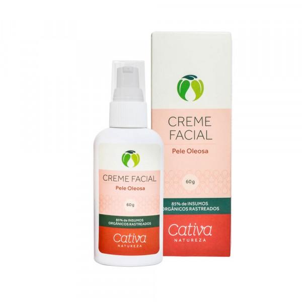 Creme Hidratante Facial Pele Oleosa - Cativa Natureza - 60gr