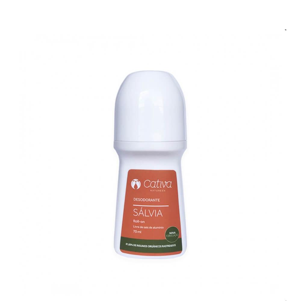 Desodorante Natural Rollon Sálvia -70 ml - Cativa Natureza