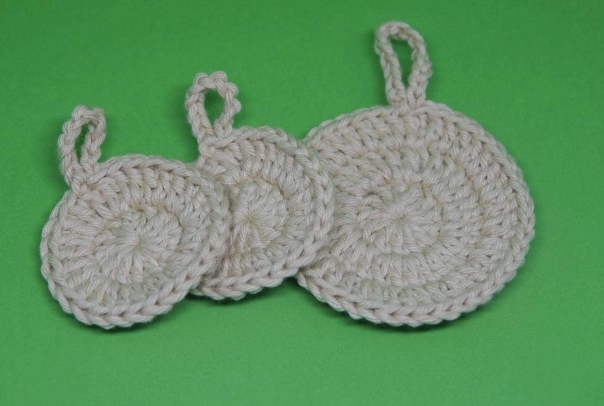 Ecopads - Disco de crochê reutilizável - Kit com 3