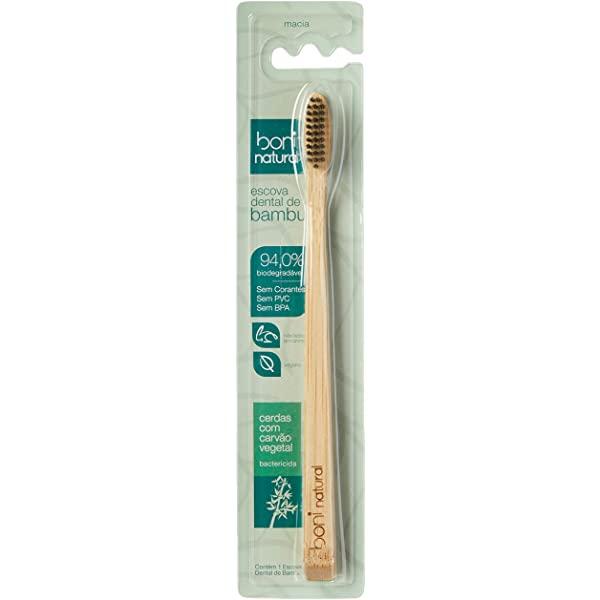 Escova Dental de Bambu - Cerdas com carvão ativado  - Boni Natural