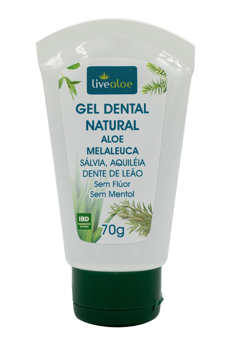 Gel Dental Natural Aloe e Melaleuca - LiveAloe