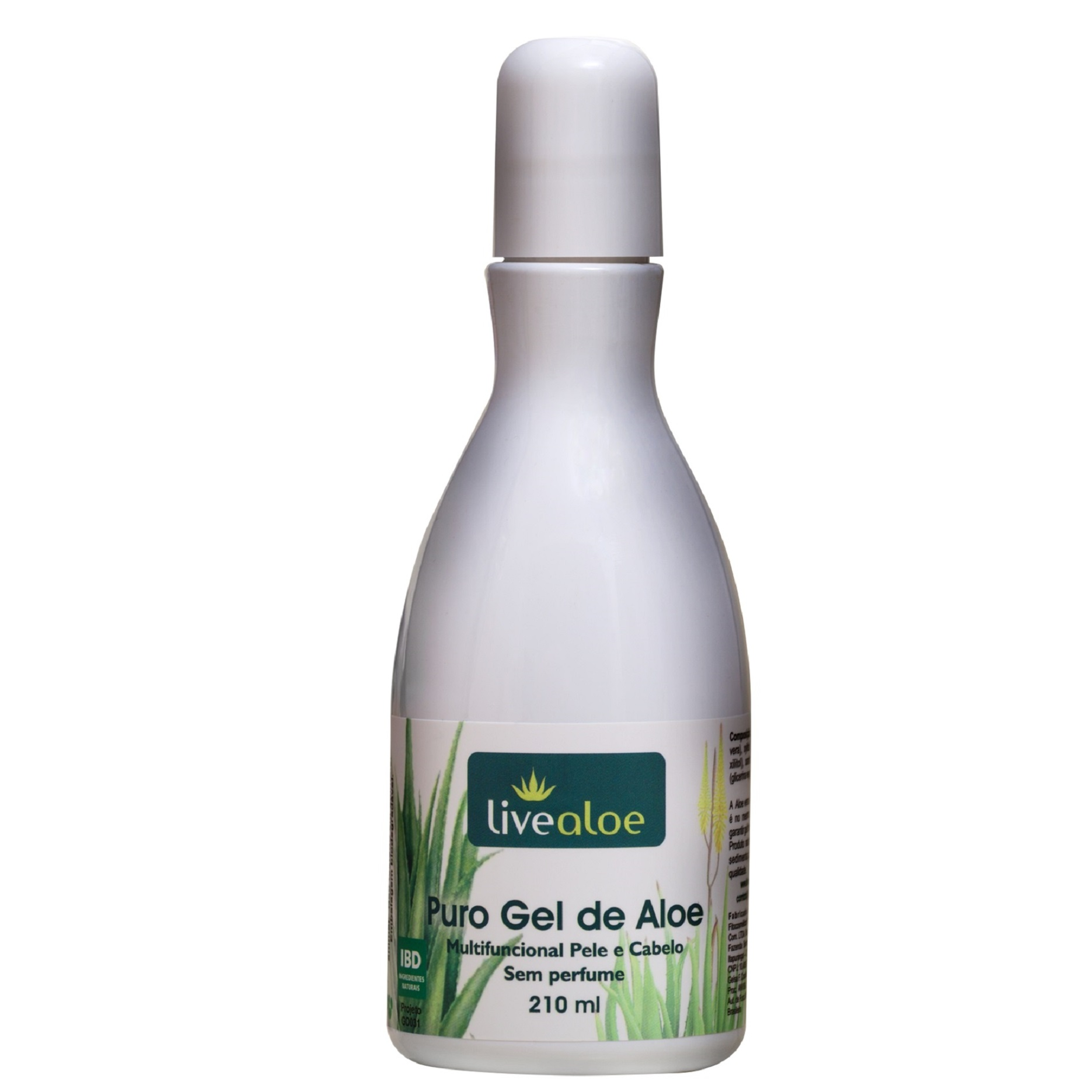 PURO GEL DE ALOE - 60 ML ou 210 ml ou 500ml - LIVEALOE