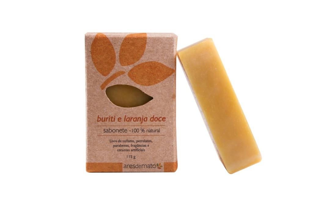 Sabonete buriti e laranja doce - Pele Normal à Seca - Facial e Corporal - Ares de Mato
