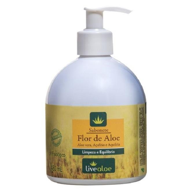 Sabonete Flor de Aloe - Pele normal a oleosa - 480ml - Livealoe