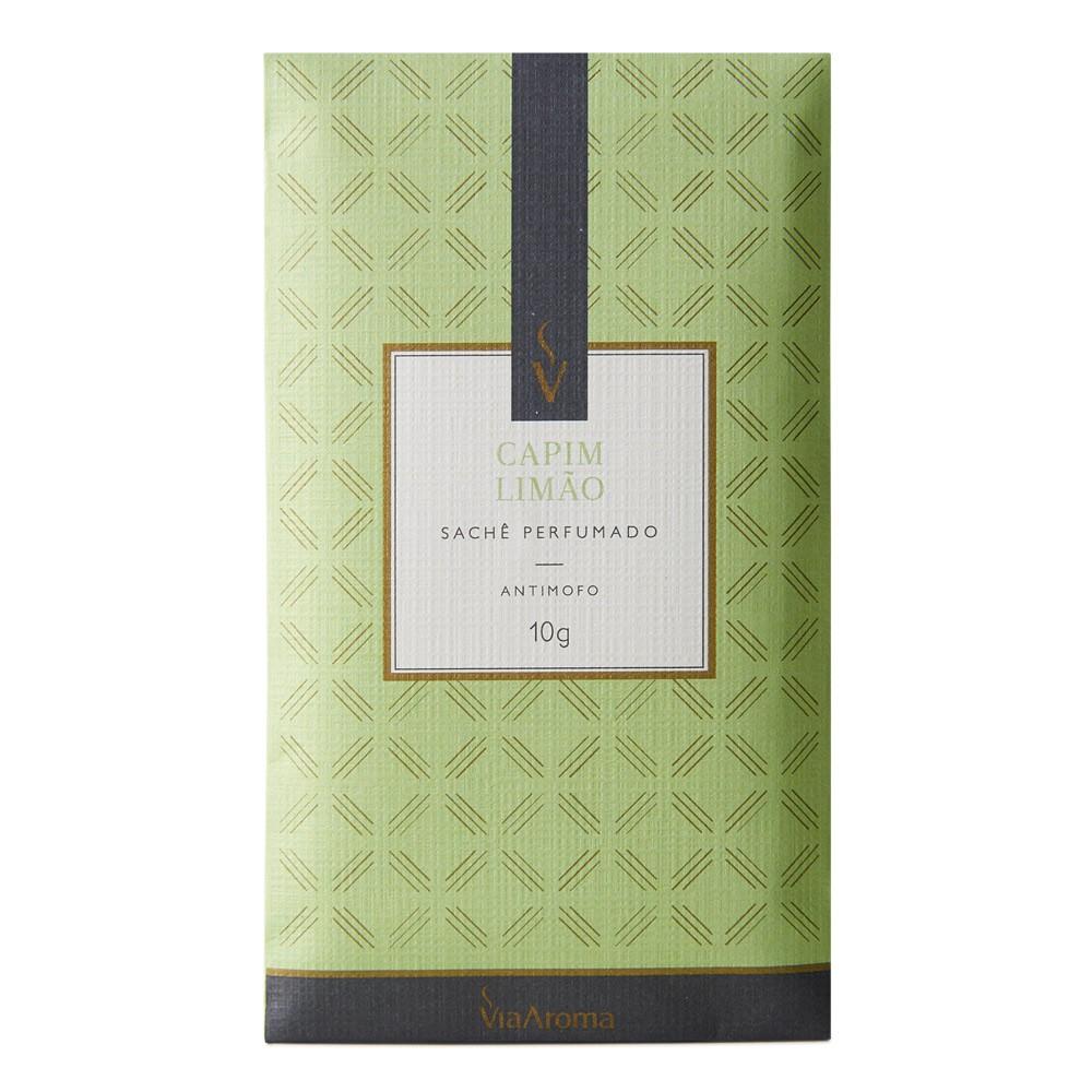 Sachê Perfumado 10g - Capim Limão - Via Aroma