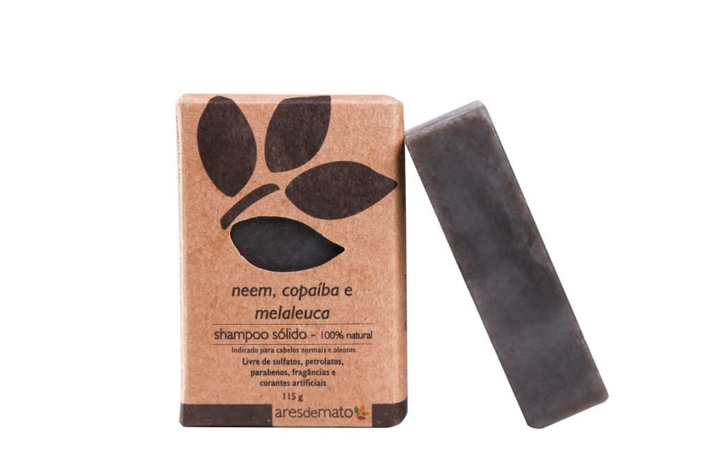Shampoo Sólido Neem, Copaíba e Melaleuca - Cabelos oleosos a normais - Ares de Mato
