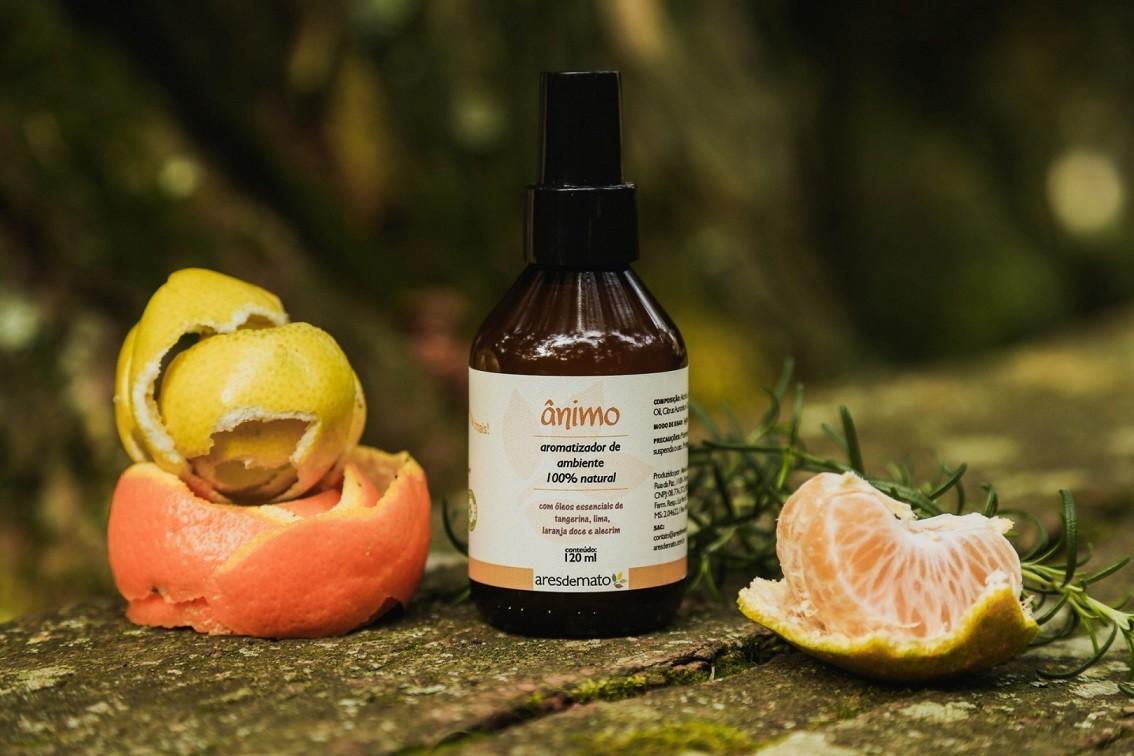 Spray Aromatizador Ânimo - com óleos essenciais - Ares de Mato