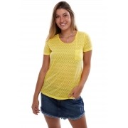 Blusinha Vida Marinha Manga Curta Amarelo
