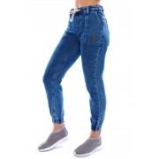 Calça Jeans Vida Marinha Jogger Média Azul