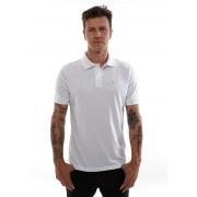 Camisa Polo Piquet Vida Marinha Manga Curta Branco