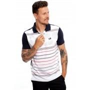 Camisa Polo Vida Marinha Manga Curta Branco/Marinho