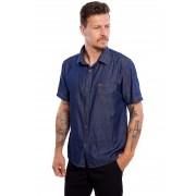 Camisa Vida Marinha Manga Curta Jeans