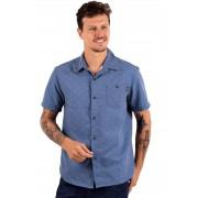 Camisa Vida Marinha Manga Curta Poá Azul