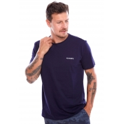 Camiseta Vida Marinha Manga Curta Azul Marinho
