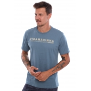 Camiseta Vida Marinha Manga Curta Azul Urbano