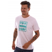 Camiseta Vida Marinha Manga Curta Rosa Claro