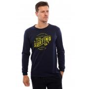 Camiseta Vida Marinha Manga Longa Azul Marinho