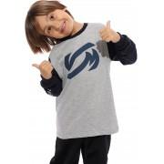 Camiseta Vida Marinha Manga Longa Cinza/Azul