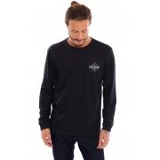 Camiseta Vida Marinha Manga Longa Preto
