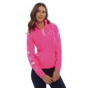 Jaqueta Corta Vento Vida Marinha Rosa Neon