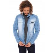 Jaqueta Jeans Vida Marinha Azul