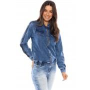 Jaqueta Jeans Vida Marinha Elastano