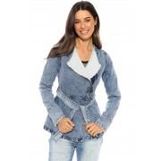 Jaqueta Jeans Vida Marinha Forrada