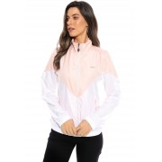 Jaqueta Vida Marinha Corta Vento Branco/Rosa