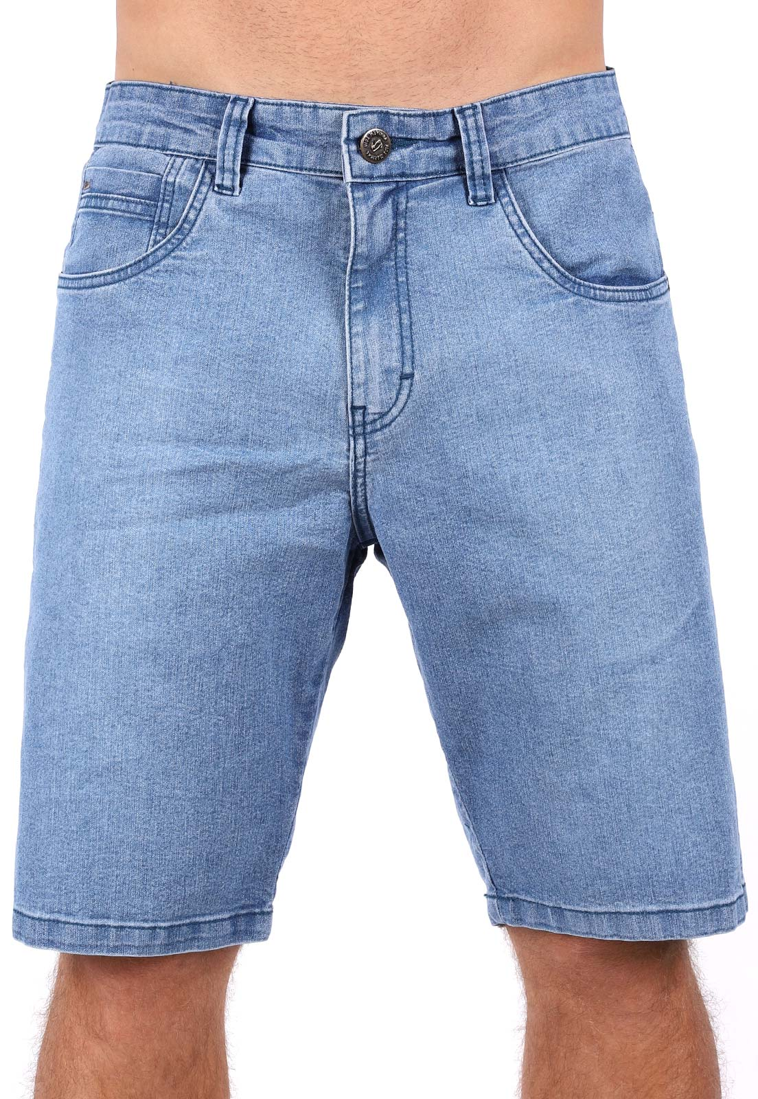 Bermuda Jeans Vida Marinha Azul Claro