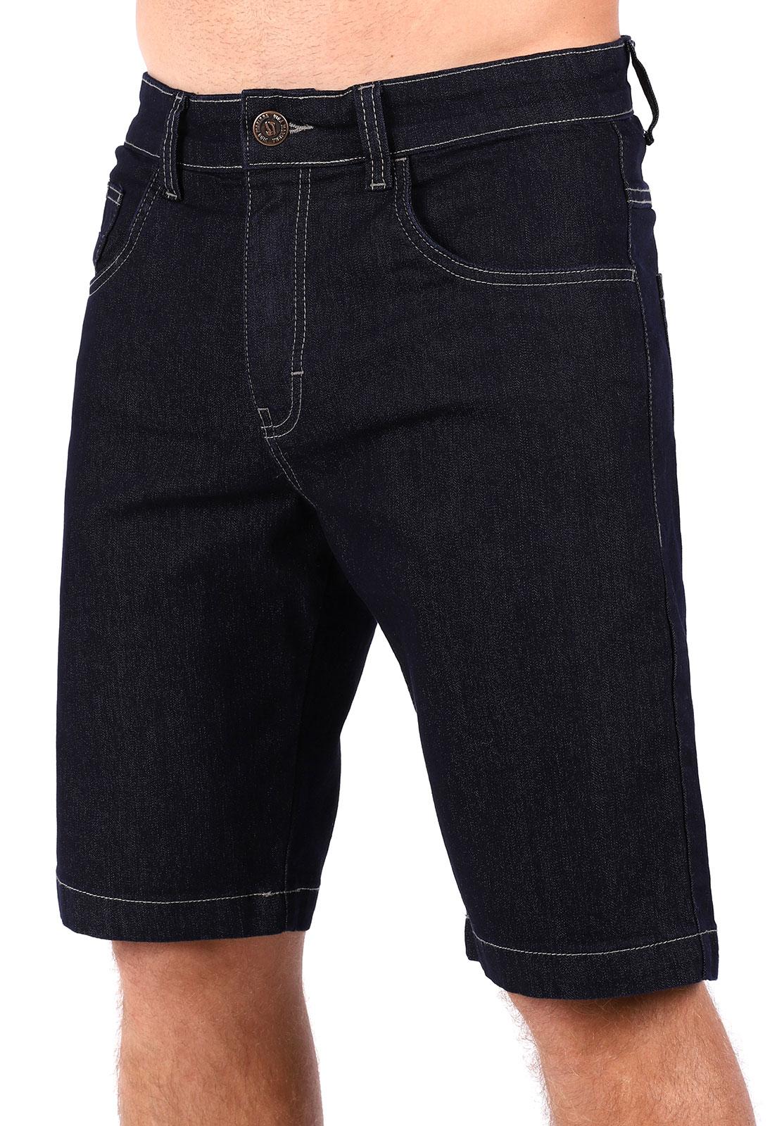 Bermuda Jeans Vida Marinha Azul Escuro