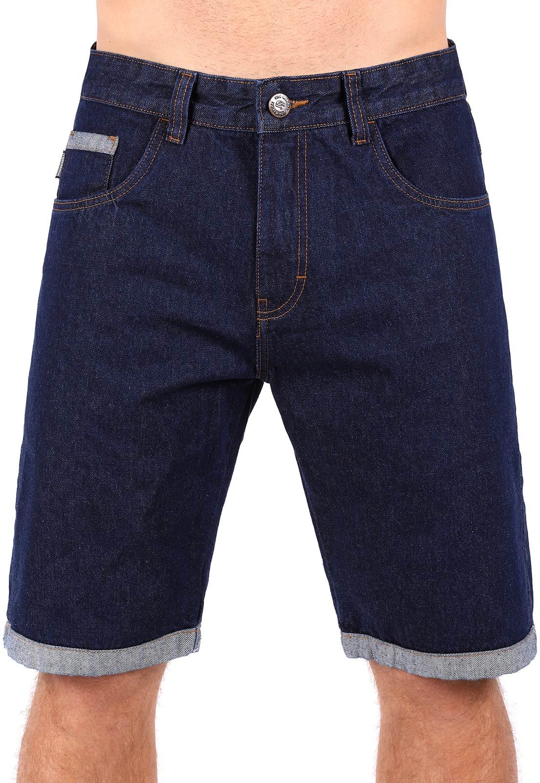 Bermuda Jeans Vida Marinha Azul Marinho
