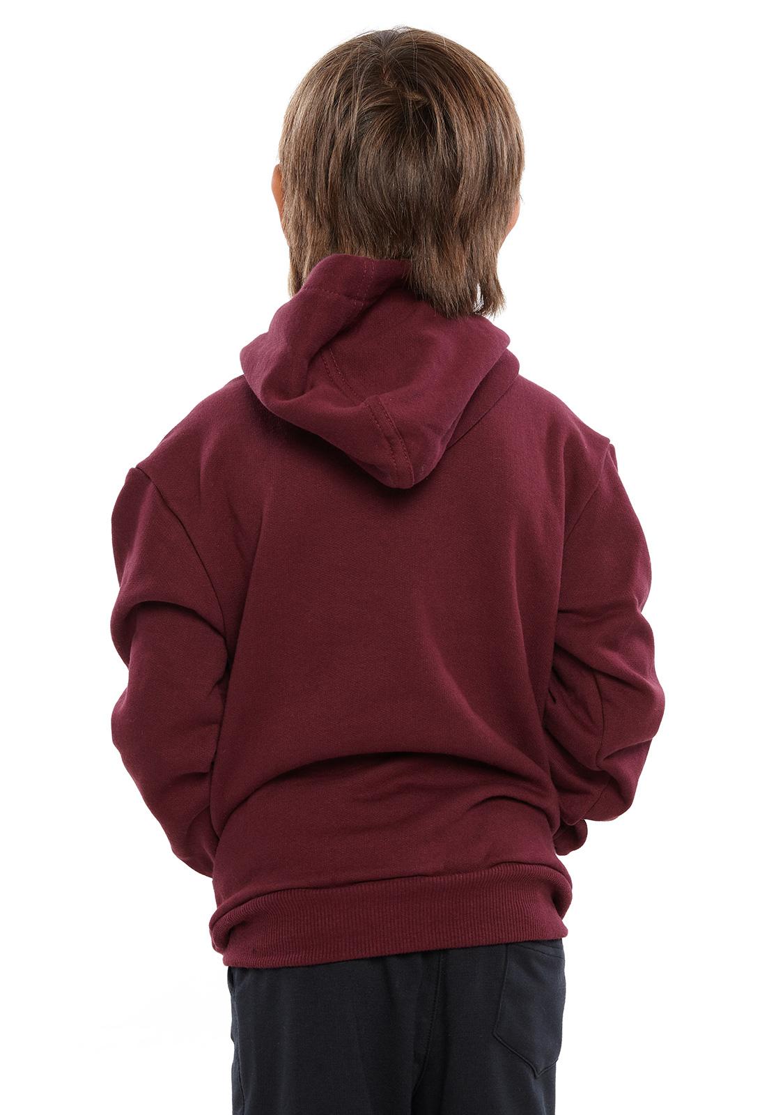 Blusa de Moletom Infantil Vida Marinha Bordô com Capuz