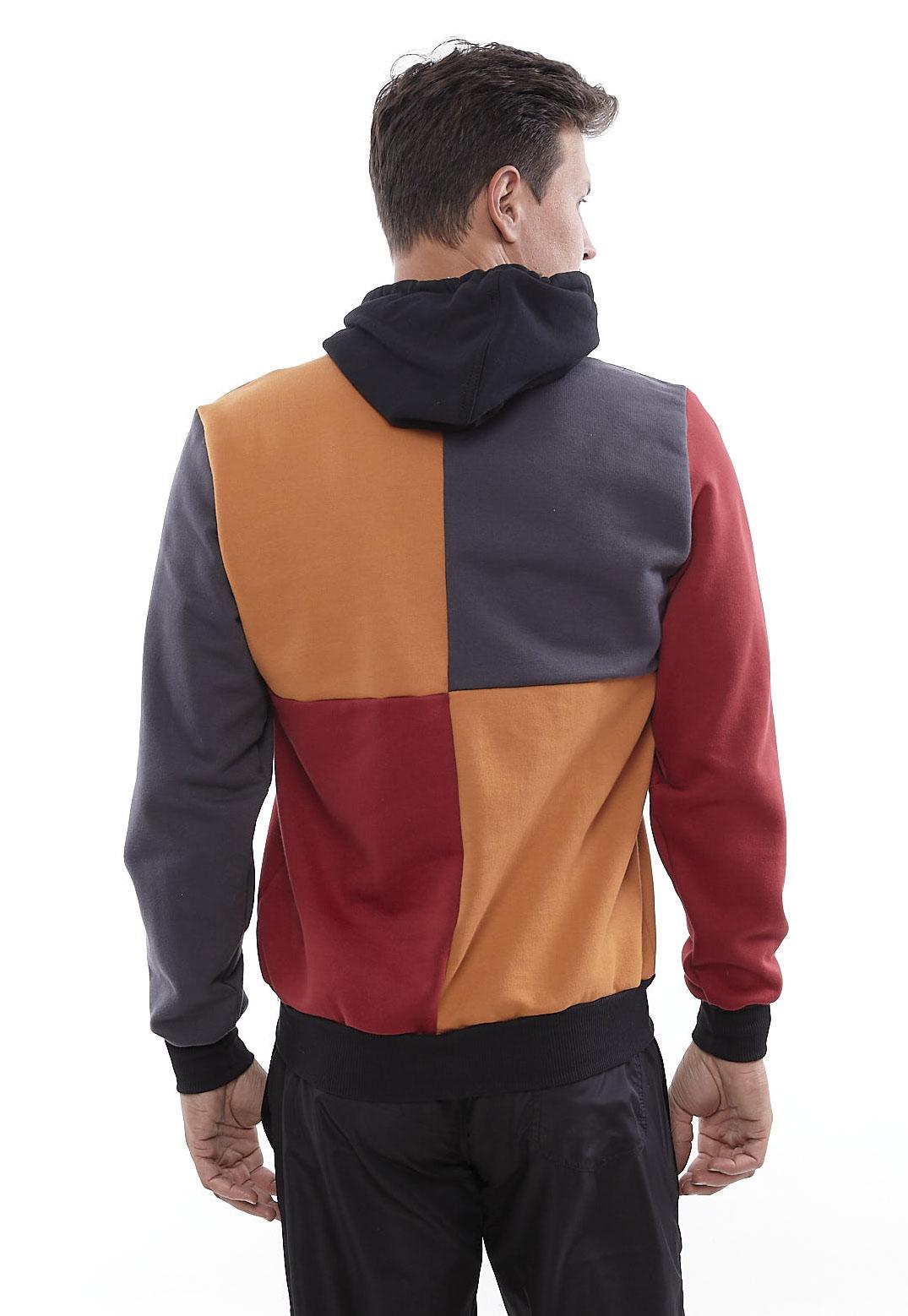 Blusa de Moletom Vida Marinha Canguru Color Blocking