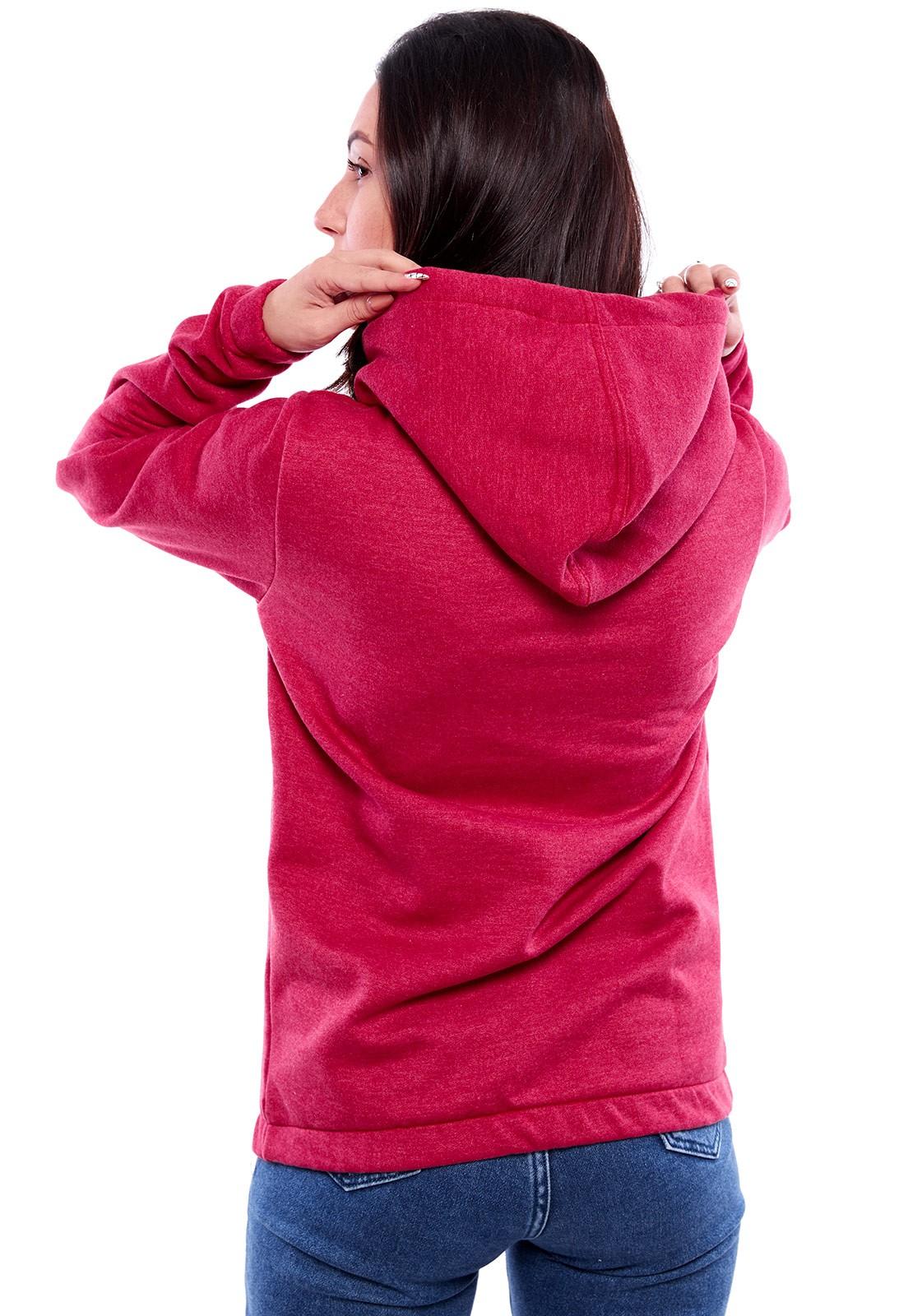 Blusa de Moletom Vida Marinha Fechada Pink