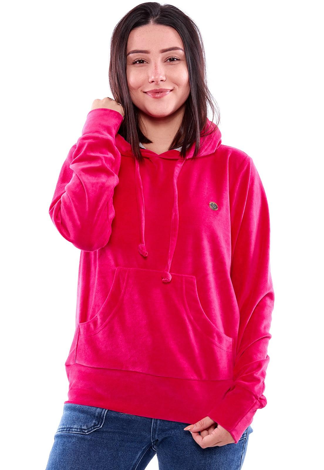 Blusa de Plush Vida Marinha Fechada Pink