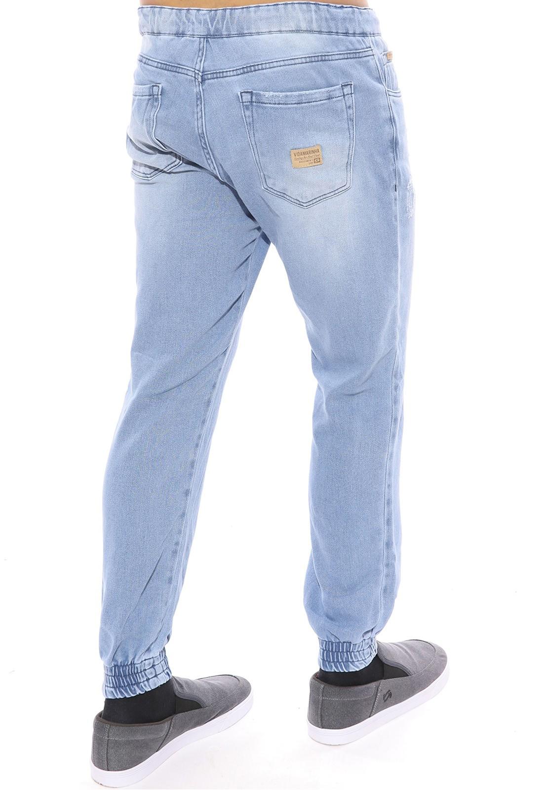 Calça Jeans Vida Marinha Jogger Moletom