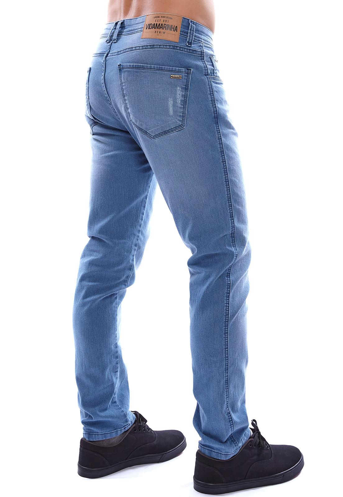 Calça Jeans Vida Marinha Skinny Azul Claro