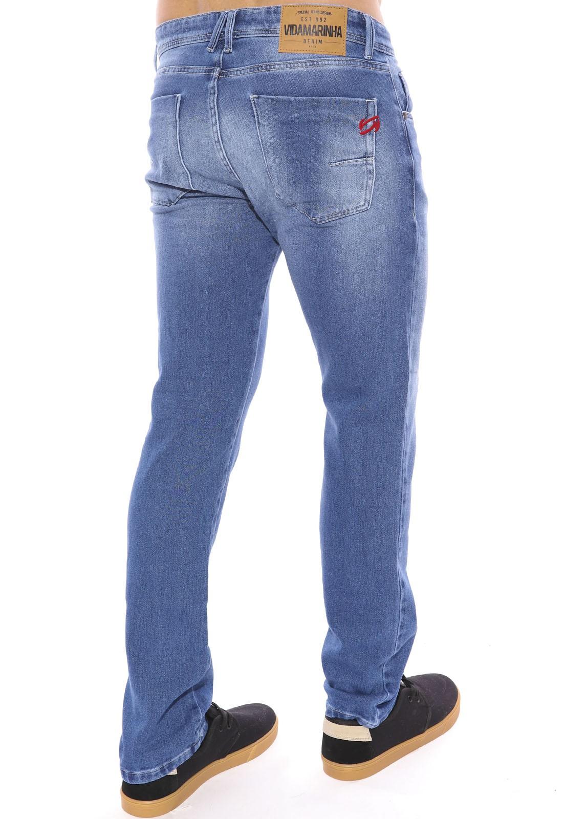 Calça Jeans Vida Marinha Slim Moletom